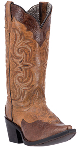 Laredo Ginger Western Boots - Brown - Ladies' Western Boots | Spur Western Wear