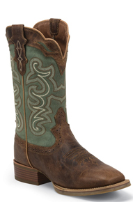 Justin Ashena Western Boot - Brown - Ladies' Western Boots | Spur Western Wear