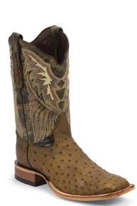 Tony Lama Chuquitas Full Quill Ostrich Western Boots - Brown - Men's Western Boots | Spur Western Wear