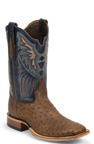 Tony Lama Chuquitas Full Quill Ostrich Western Boots - Azure - Men's Western Boots | Spur Western Wear