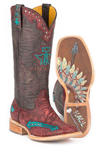 Tin Haul Arrowhead Western Boot - Red - Ladies' Western Boots | Spur Western Wear