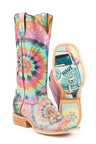 Tin Haul Groovy Western Boot - Multicolored - Ladies' Western Boots | Spur Western Wear