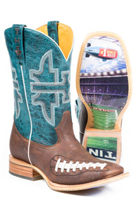 Tin Haul Football Western Boot - Brown - Men's Western Boots | Spur Western Wear