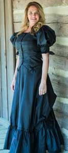 Frontier Classics Black Antique Satin Ensemble