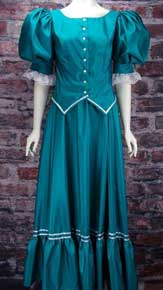 Frontier Classics Teal Antique Satin Ensemble