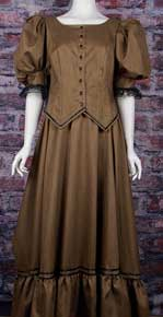 Frontier Classics Brown Antique Satin Ensemble