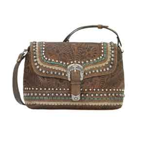 American West Blue Ridge Crossbody Bag - Charcoal Brown - Ladies' Western Handbags And Wallets | Spur Western Wear