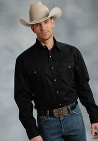 FF Long Sleeve Western Shirt - Black - Big & Tall - Men's Western Shirts | Spur Western Wear