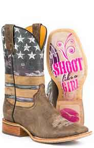 Tin Haul American Woman Western Boot - Multicolored - Ladies' Western Boots | Spur Western Wear
