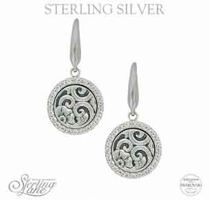Montana Silversmiths® Sterling Lane Daisy Vignette Earrings - Western Jewelry | Spur Western Wear