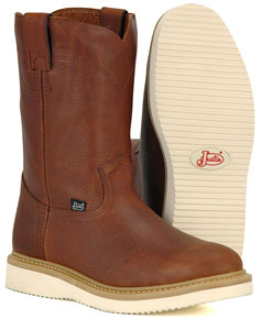 Justin Premium Wedge Pull-On Work Boot - Men's Western Boots | Spur Western Wear