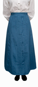 Wah Maker Moire Gibson Girl Skirt - Blue - Ladies' Old West Skirts | Spur Western Wear