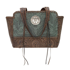 American West Annie's Secret Concealed Carry Zip-Top Tote - Turquoise - Ladies' Western Handbags And Wallets | Spur Western Wear