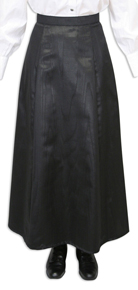 Wah Maker Moire Gibson Girl Skirt - Black - Ladies' Old West Skirts | Spur Western Wear