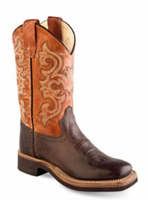 Jama Old West Cowboy Boot -  Brown - Kids' - Kids' Western Boots | Spur Western Wear