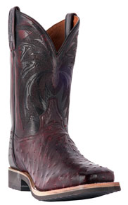 Dan Post Philsgood Full Quill Ostrich Western Boot - Black Cherry - Men's Western Boots | Spur Western Wear