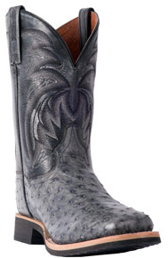 Dan Post Philsgood Full Quill Ostrich Western Boot - Grey - Men's Western Boots | Spur Western Wear