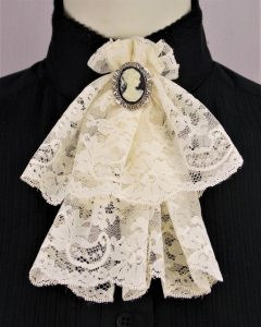 Frontier Classics Lace Jabot - Ivory - Old West Clothing | Spur Western Wear