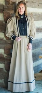 Frontier Classics Two Piece Ensemble - Tan - Ladies' Old West Ensembles | Spur Western Wear