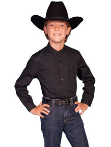 Scully Gambler Shirt - Black - Boys' Old West Shirts | Spur Western Wear