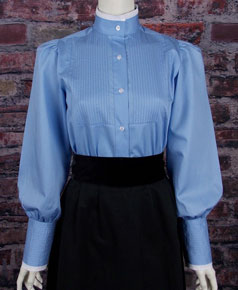Frontier Classics Alma Blouse - Blue - Ladies' Old West Blouses | Spur Western Wear
