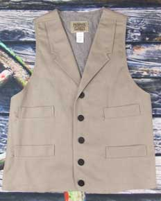 Frontier Classics Gunfighter Vest -  Grey, Men's Old West Vests and Jackets | Spur Western Wear