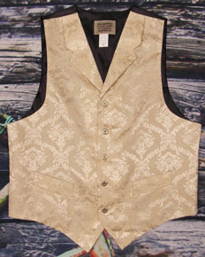 "Frontier Classics ""Reno"" Old West Vest - Tan - Men's Old West Vests and Jackets 