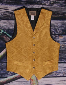 "Frontier Classics ""Reno"" Old West Vest - Gold - Men's Old West Vests and Jackets 
