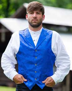 "Frontier Classics ""Richland"" Old West Vest - Royal - Men's Old West Vests and Jackets 