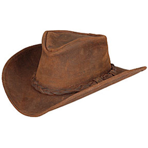 Minnetonka® Outback Ruff Leather Hat - Brown - Cowboy Hats | Spur Western Wear