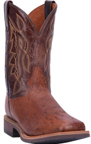 Dan Post Philsgood 2 Smooth Quill Ostrich Western Boot - Cognac - Men's Western Boots | Spur Western Wear