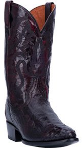 Dan Post Pugh Ostrich Western Boot - Black Cherry - Men's Western Boots | Spur Western Wear