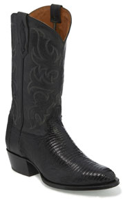Tony Lama 1911 Nacogdoches Teju Lizard Western Boot - Black - Men's Western Boots | Spur Western Wear