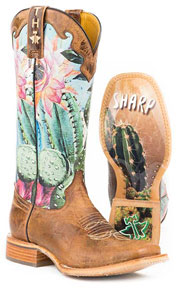 Tin Haul Cactilicious Western Boot - Tan - Ladies' Western Boots | Spur Western Wear