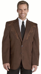 Circle S Galveston Western Sport Coat - Chestnut,  Men's Western Suit Coats, Suit Pants, Sport Coats, Blazers | Spur Western Wear