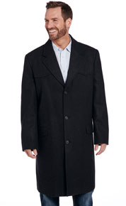 Cripple Creek Wool Melton Concealed Carry Overcoat - Heather Black - Men's Western Suit Coats, Suit Pants, Sport Coats, Blazers | Spur Western Wear
