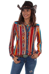 Scully Honey Creek Serape Western Blouse - Ladies' Western Shirts | Spur Western Wear