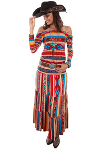 Scully Honey Creek Serape Maxi Skirt - Ladies' Western Skirts And Dresses | Spur Western Wear