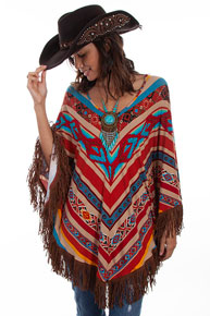 Scully Honey Creek Serape Poncho - Ladies' Western Shirts | Spur Western Wear