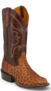 Tony Lama 1911 Ronnie Full Quill Ostrich Western Boot - Cognac - Men's Western Boots | Spur Western Wear