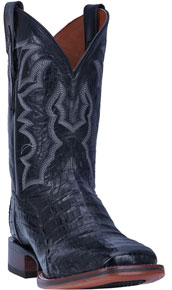 Dan Post Kingsly Caiman Western Boot - Black - Men's Western Boots | Spur Western Wear