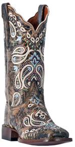 Dan Post Anna Western Boot - Chocolate - Ladies' Western Boots | Spur Western Wear