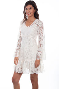 Scully Honey Creek Lace Dress - Ivory - Ladies' Western Skirts And Dresses | Spur Western Wear