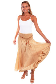 Scully Cantina Skirt - Khaki - Ladies' Western Skirts And Dresses | Spur Western Wear