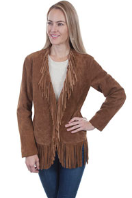 Scully Boar Suede Leather Western Jacket - Cinnamon - Ladies Leather Jackets | Spur Western Wear
