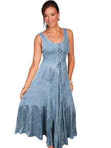 Scully Honey Creek Lace Front Dress - Ash Grey - Ladies' Western Skirts And Dresses | Spur Western Wear