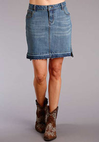 Stetson Stretch Denim Skirt - Blue - Ladies' Western Skirts And Dresses | Spur Western Wear