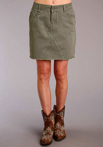Stetson Twill Skirt - Olive - Ladies' Western Skirts And Dresses | Spur Western Wear
