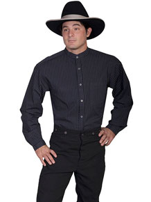 Scully Striped Old West Shirt - Black - Men's Old West Shirts | Spur Western Wear