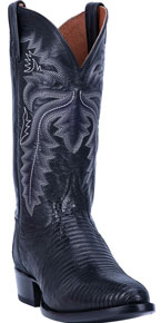 Dan Post Winston Lizard Western Boot - Black - Men's Western Boots | Spur Western Wear